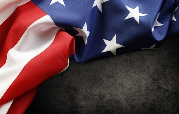 Картинка red, USA, white, blue, stars, flag, fabric