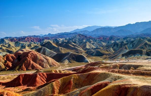 Картинка горы, природа, парк, фото, Китай, Zhangye, Danxia