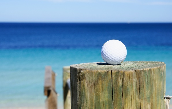 Картинка golf, sea, club, golf ball
