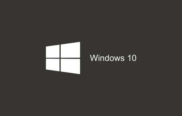 Фото обои Логотип, Пуск, Windows, Темно-серый, Темный фон