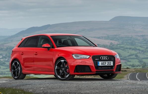 Картинка Audi, ауди, Sportback, UK-spec, 2015, RS 3