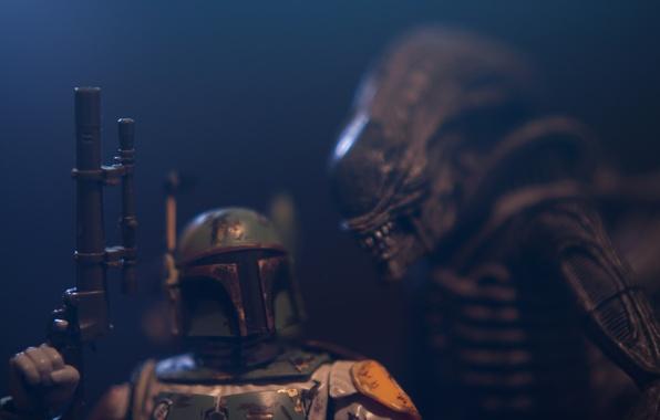 Картинка фон, игрушка, Star Wars, Чужой, статуэтка, Звездные Войны, Alien, тварь