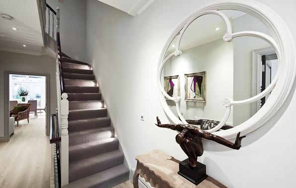 Картинка дизайн, дом, стиль, вилла, интерьер, коридор, лестница, холл