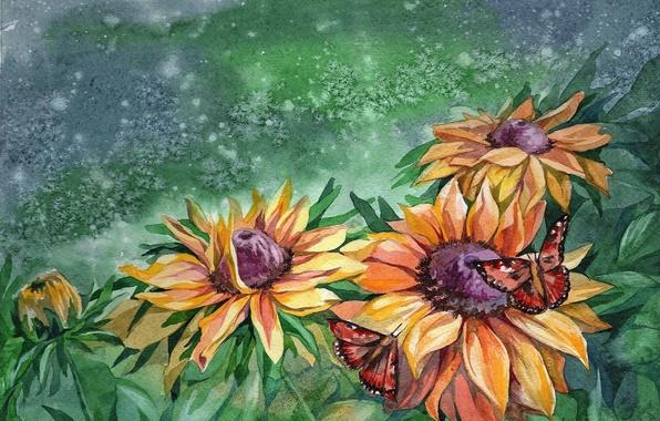 Живопись природа цветы лепестки