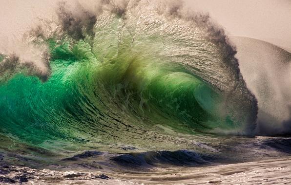 Картинка море, капли, брызги, природа, океан, волна