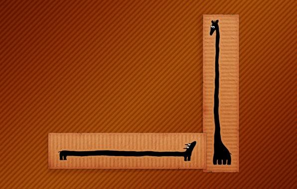 Картинка линии, рисунок, минимализм, жираф, такса