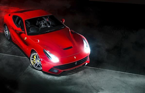 Картинка красный, Ferrari, red, феррари, Berlinetta, F12, Kahn Design