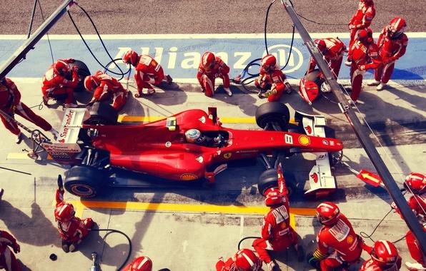 Картинка ferrari, 2010, box, spain, formula1, spanish, formula one, alonso, victory, fernando alonso, f10, italy