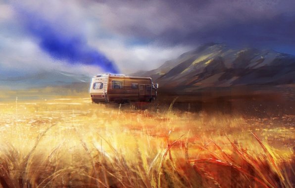 Картинка art, Breaking Bad, AMC, lab, Fleetwood Bounder, crystal ship, The RV