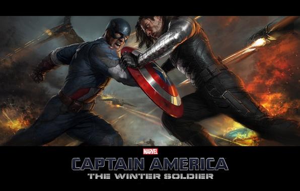 Фото обои Captain America, Крис Эванс, Первый мститель, Chris Evans, The Winter Soldier, Другая войнаб