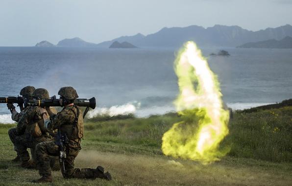 Картинка оружие, армия, выстрел, солдаты