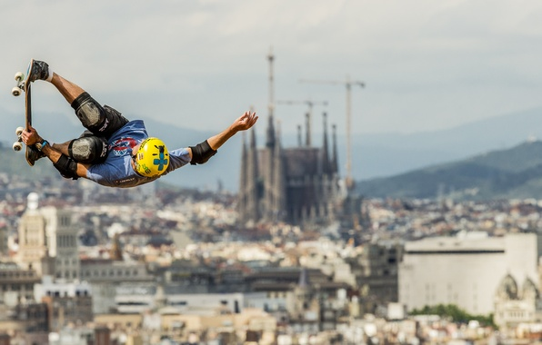 Фото обои фон, прыжок, спорт