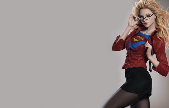 Картинка герой, Супермен, комикс, Superman, Supergirl, Супердевушка