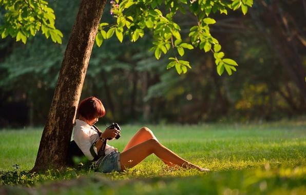Картинка девушка, шорты, камера, ножки, Thailand, Bangkok, The Photographer:)