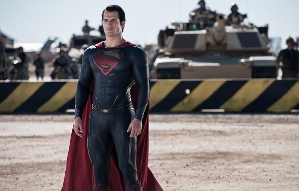 Картинка фантастика, армия, костюм, Супермен, танки, комикс, Superman, Clark Kent, Человек из стали, Man of Steel, …