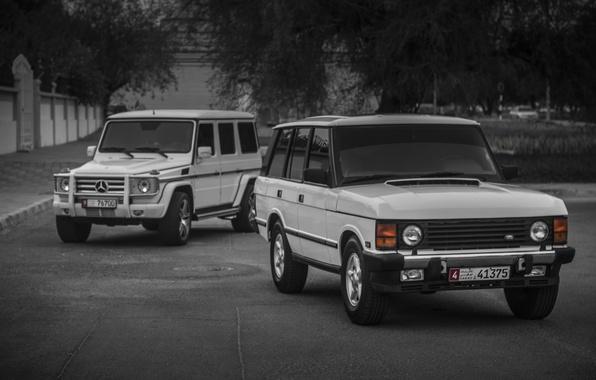Картинка mercedes, range rover, G55, classic, g class