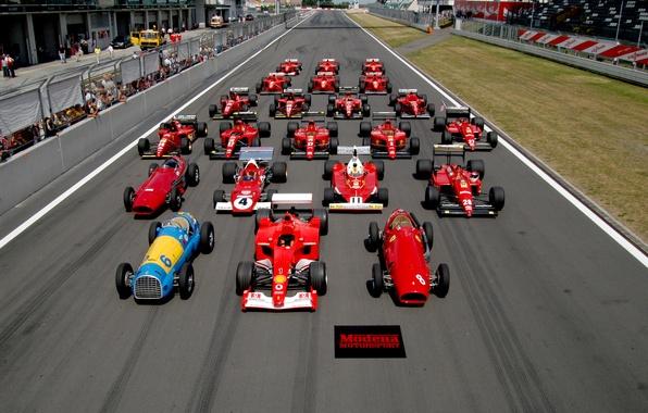 Картинка машины, обои, формула1, болид, ferrari, formula1