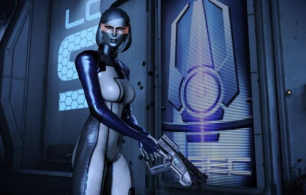 Картинка робот, Mass Effect, EDI, Сузи