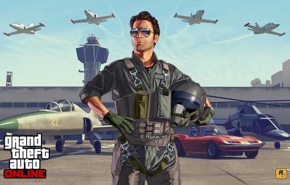 Картинка машины, самолеты, Grand Theft Auto V, Летная школа