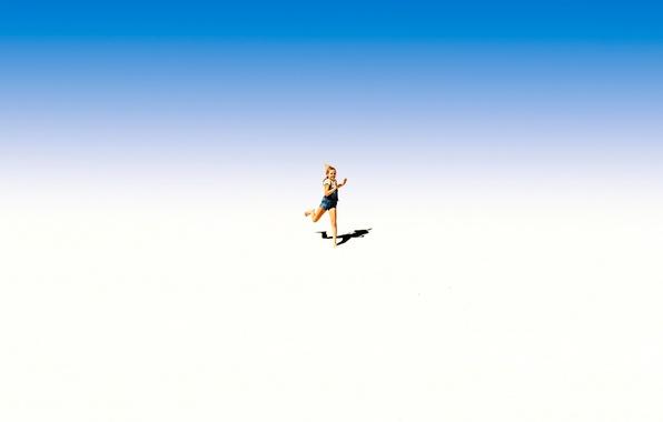 Картинка тень, бег, девочка