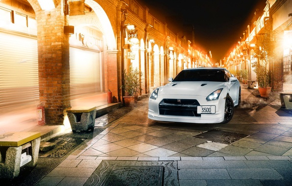 Картинка GTR, Japan, Nissan, Car, White, R35, Sport, CR Creation