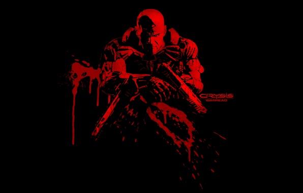 Картинка оружие, кровь, Crysis, Warhead