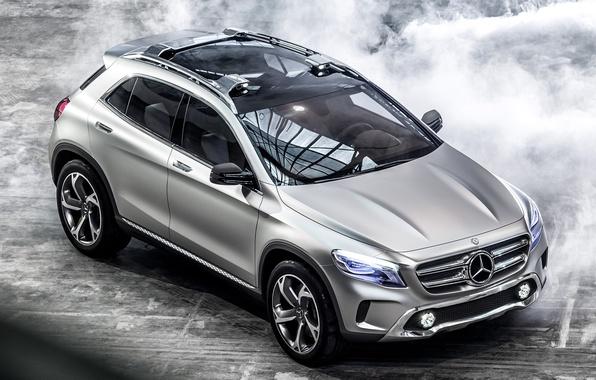 Картинка авто, Concept, фары, Mercedes-Benz, серебристый, мерс, GLA