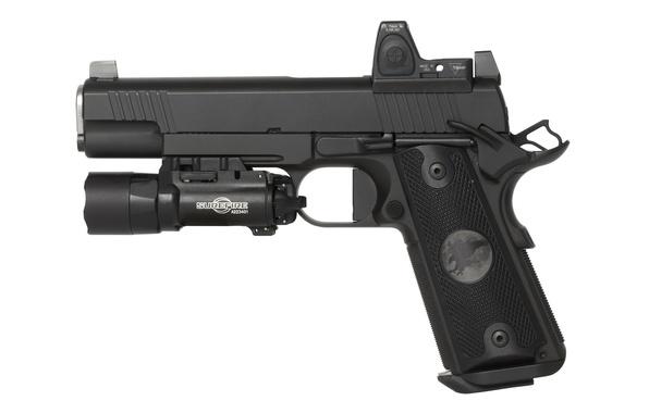 Картинка пистолет, оружие, 9mm, полуавтоматический, Nighthawk Custom, Shadow Hawk