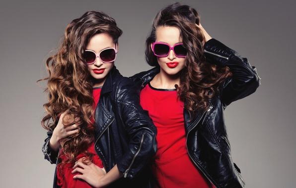 Картинка стиль, девушки, волосы, очки, лица, модели, куртки