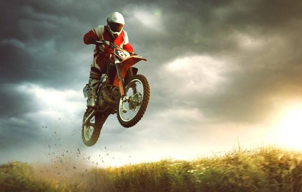 Картинка прыжок, спорт, байк, экстрим, мотоциклист, bike, jump, extreme, sports, biker, Motocross, Michal Vítek