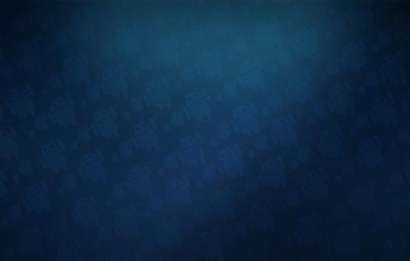 Фото обои андроид, синий, текстура, Android