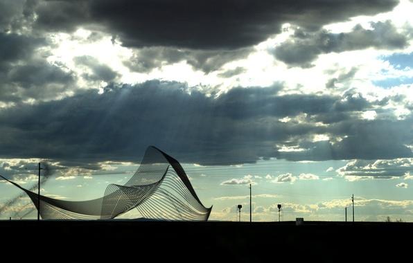 Картинка грусть, небо, лучи, сети, пасмурно, тьма, сетка, злость, столбы, сеть, провода, печаль, настроения, апокалипсис