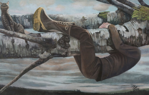 Картинка картина, норвежский художник, Christer Karlstad, A Change of Scenery