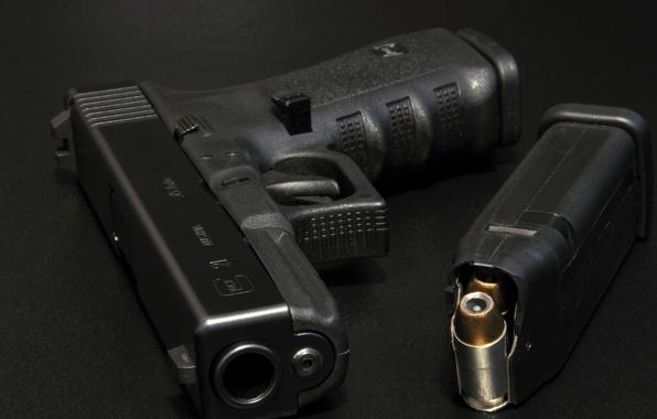 Картинка макро, пистолет, оружие, Glock 21