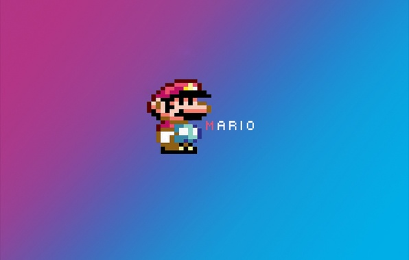 Картинка марио, mario, пиксельный герой, пикселизация