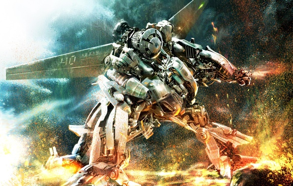 Картинка трансформеры, война, робот