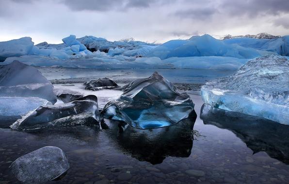 Картинка ice, snow, iceland, jökulsárlón