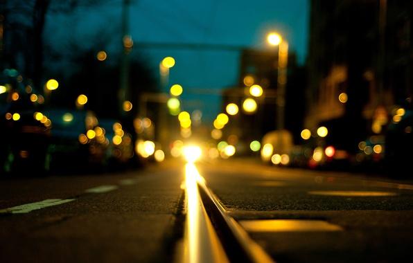 Картинка дорога, асфальт, машины, ночь, город, огни, транспорт, улица, Нидерланды, боке, Nederland, Zuid-Holland, Южная Голландия, Роттердам, …