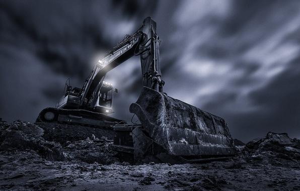 Картинка экскаватор, ковш, The Machine