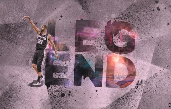 Картинка Спорт, Баскетбол, NBA, San Antonio, Сан Антонио, Spurs, Игрок, Тим Данкан, Tim Duncan, Сперс
