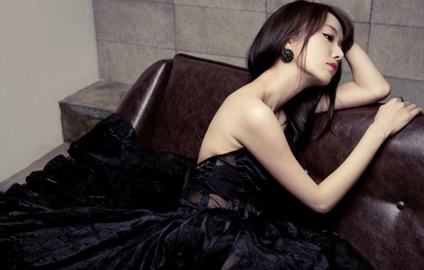 Картинка Sexy, Music, Asian, Girls, Kpop, Cute, Singer, Korean, Lee Jung Hyun, Black dress