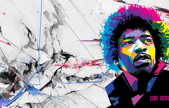 Картинка гений, гитарист, Rock, легенда, Jimi Hendrix, виртуоз