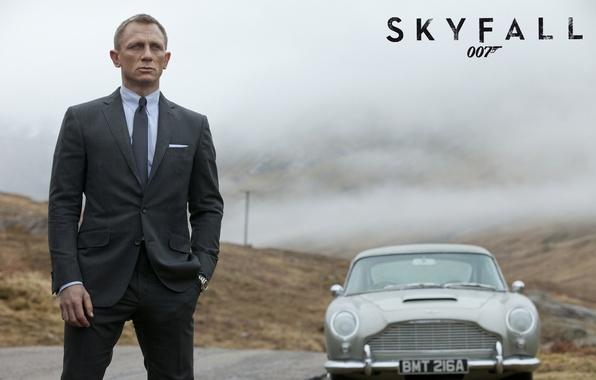 Картинка Aston Martin, Daniel Craig, 007, Астон Мартин, agent, James Bond, Бонд, 007: Координаты «Скайфолл», DB5, …