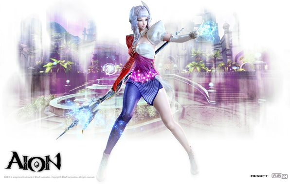 Картинка девушка, волшебство, магия, чародей, Aion