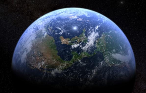 Картинка звезды, поверхность, земля, планета