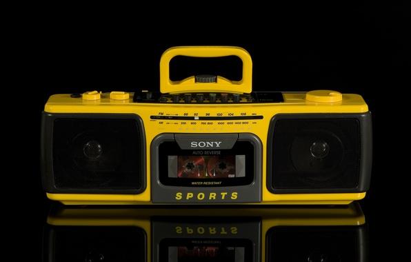 Картинка ретро, Sony, классика, магнитофон, CFS-930