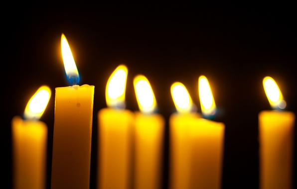 Картинка огонь, свечи, огоньки, боке