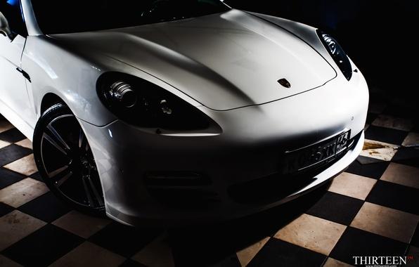 Картинка машина, авто, Porsche, капот, Порш, Panamera, перед, auto, Панамера