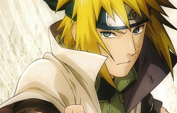 Картинка портрет, повязка, Naruto, кулак, папа, ninja, Minato Namikaze