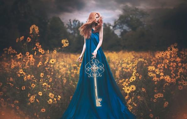Картинка девушка, фантазия, ключ, арт, The Gift of Discovery, Shelby Robinson